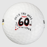 Happy 60th Birthday Golf Balls