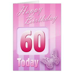 Mothers 60th birthday cards greeting photo cards zazzle happy 60th birthday grand mother great aunt mum card bookmarktalkfo Choice Image
