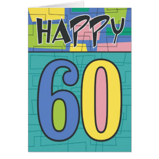Happy 60th Birthday Greeting Card