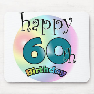 Happy 60th birthday mouse pad