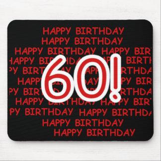 Happy 60th  Birthday Mouse Pad