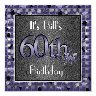 Happy 60th Birthday Party Invitation Personalized