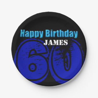 Happy 60th Birthday Personalized Paper Plates