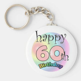 Happy 60th Birthday (pink) Keychain