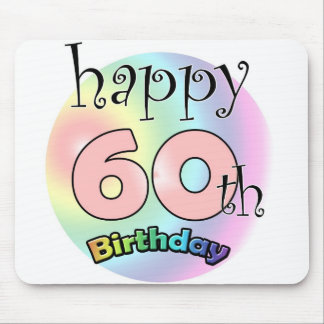 Happy 60th birthday (pink) mouse pad