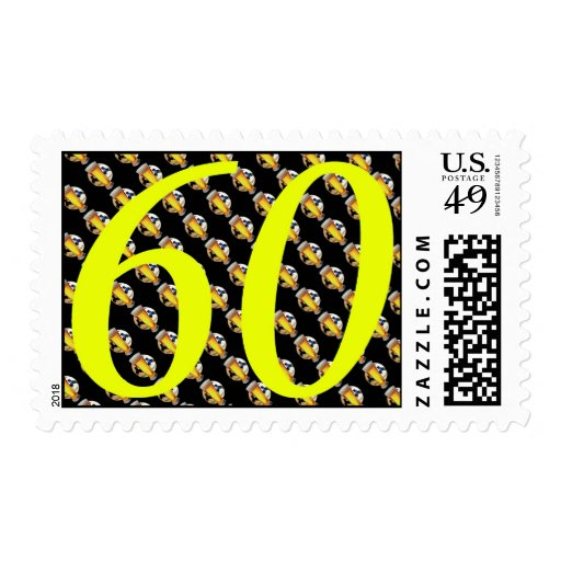Happy 60th Birthday sixties sixty 60 60th beer Stamp