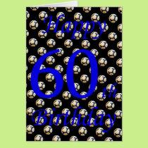 Happy 60th Birthday sixtieth soccer football sport Card