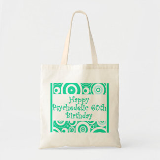 Happy 60th psychedelic birthday tote bag