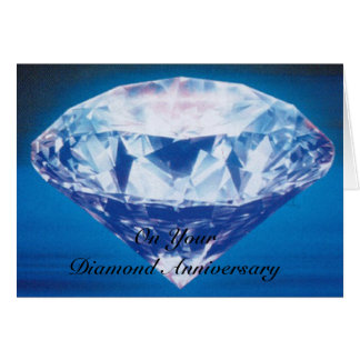 Happy 60th Wedding Anniversary Card Diamond