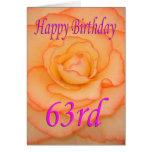 Happy 63rd Birthday Flower Card