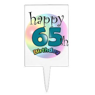 Happy 65th Birthday (blue) Cake Topper