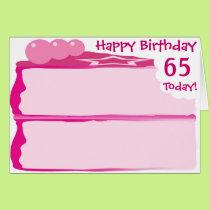 Happy 65th Birthday Card