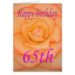 Happy 65th Birthday Flower Card