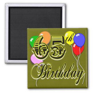 Happy 65th Birthday Merchandise Magnet