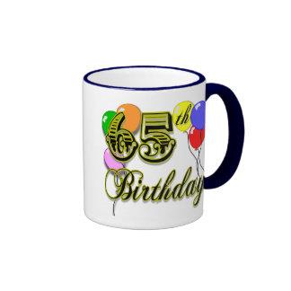 Happy 65th Birthday Merchandise Ringer Mug