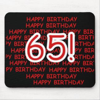 Happy 65th Birthday Mouse Pad
