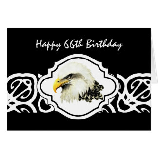 Happy 66th  Birthday Tough Old Bird  Bald Eagle Greeting Card