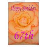 Happy 67th Birthday Flower Card