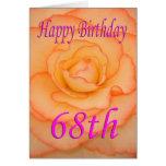 Happy 68th Birthday Flower Card