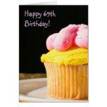 Happy 69th Birthday Muffin greeting card