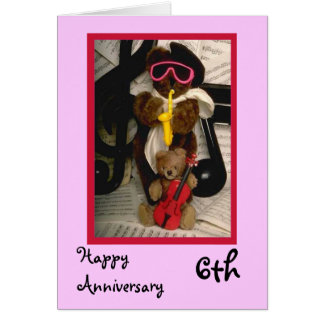 Happy 6th Anniversary, Customizable Card