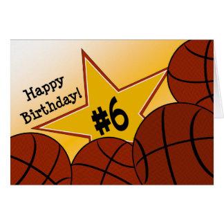 Happy 6th Birthday, Basketball Star! Card