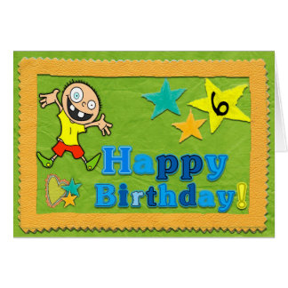 Happy 6th Birthday Card