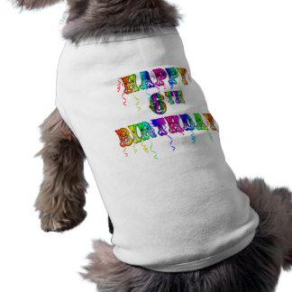 Happy 6th Birthday Circus Font Shirt