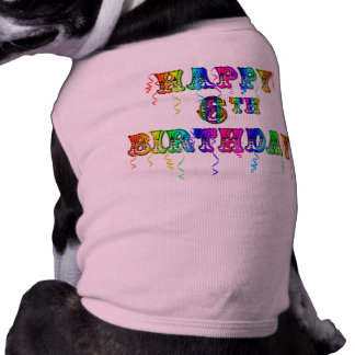Happy 6th Birthday Circus Font Tee