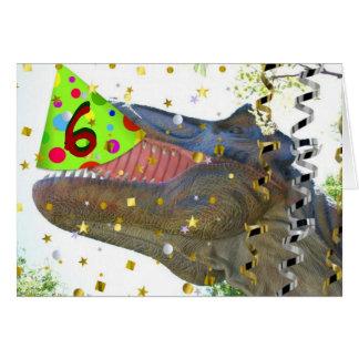 Happy 6th Birthday/Dinosaur Card