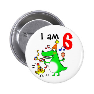 Happy 6th Birthday ( I am 6 ) Pinback Button