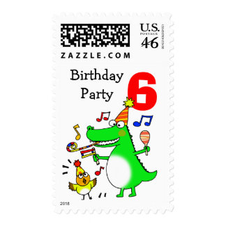 Happy 6th Birthday ( I am 6 ) Postage Stamps