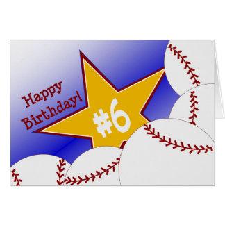 Happy 6th Birthday, Slugger! Card