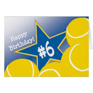 Happy 6th Birthday, Tennis Star! Card