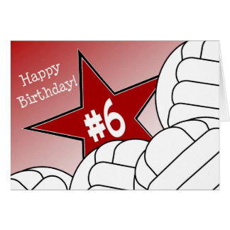 Happy 6th Birthday, Volleyball Star! Card