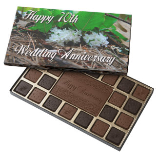 Happy 70th Anniversary For Nature Lovers 45 Piece Box Of Chocolates
