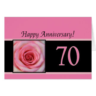 Happy 70th Anniversary roses Cards