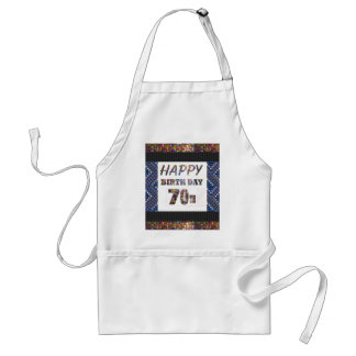 Happy 70th Birthday Adult Apron