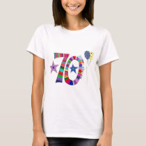 Happy 70th Birthday Balloon T-Shirt