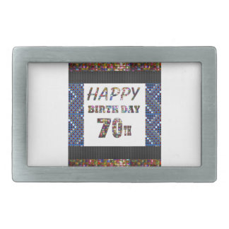 Happy 70th Birthday Belt Buckle