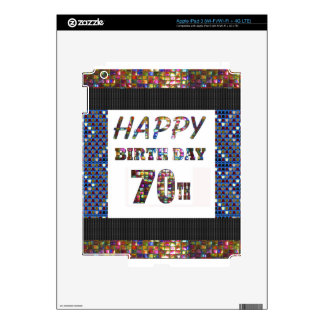 Happy 70th Birthday Decal For iPad 3