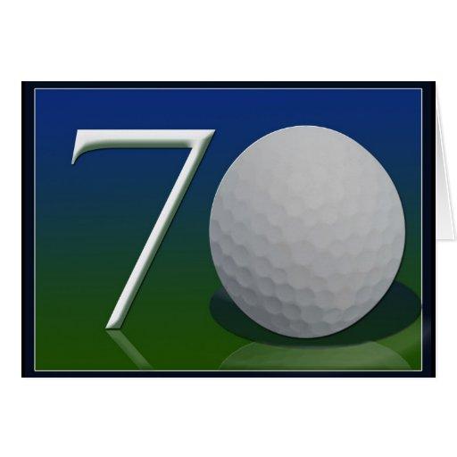 Happy 70th Birthday for golf nut Card