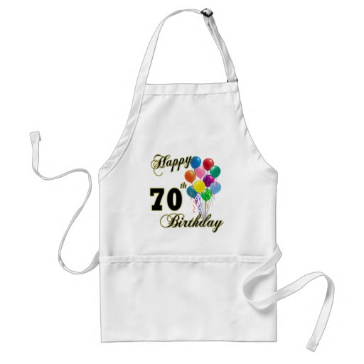 Happy 70th Birthday Gifts and Birthday Apparel Aprons