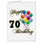 Happy 70th Birthday Gifts and Birthday Apparel Greeting Card