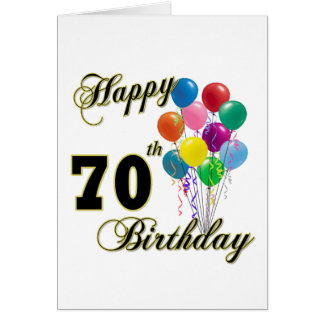 Happy 70th Birthday Gifts and Birthday Apparel Card