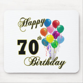 Happy 70th Birthday Gifts and Birthday Apparel Mouse Pad
