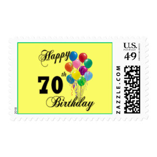 Happy 70th Birthday Gifts and Birthday Apparel Postage Stamp