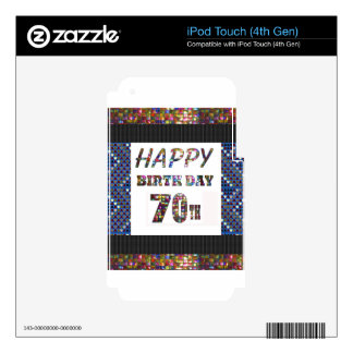 Happy 70th Birthday iPod Touch 4G Decal