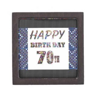 Happy 70th Birthday Keepsake Box