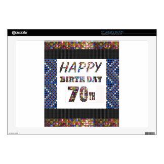 Happy 70th Birthday Laptop Decals